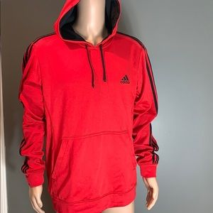 Adidas Mens The Go To Hoodie Red SZ.XL